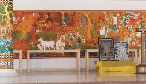 Hotel sopanam heritage guruvayoor for Asha mural painting guruvayur